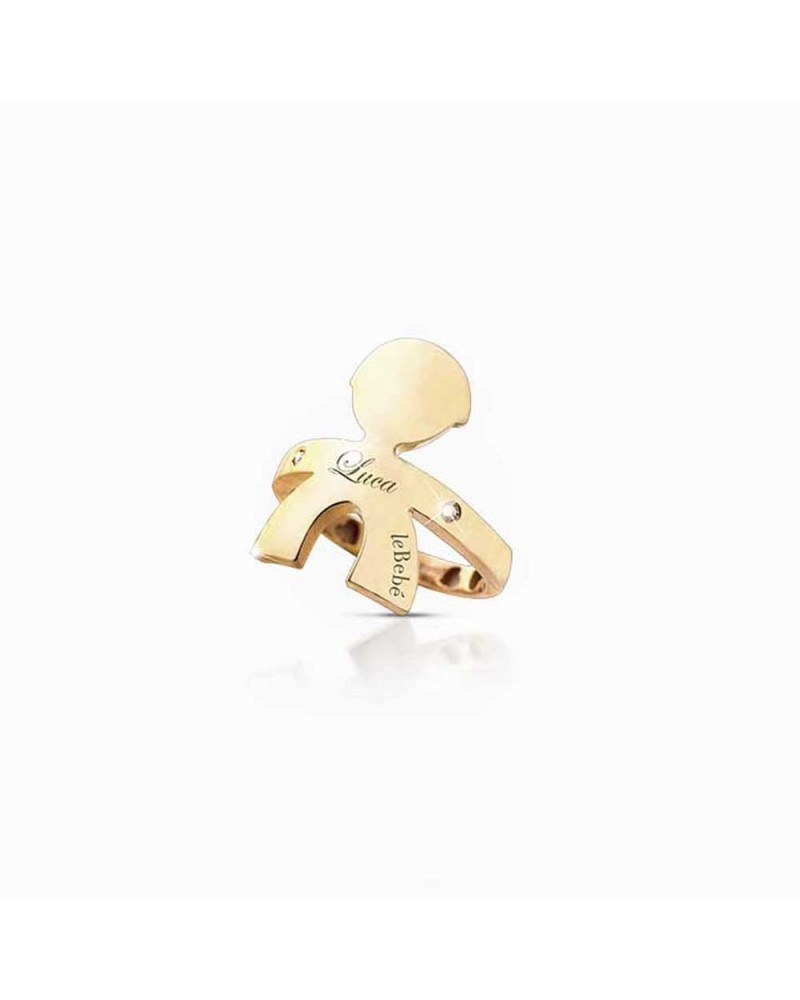 HUGS MALE RING YELLOW GOLD