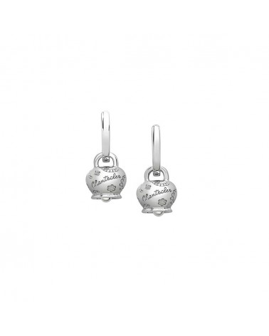 CHANTECLER Campanella Suamèm micro earrings in 9 Kt white gold