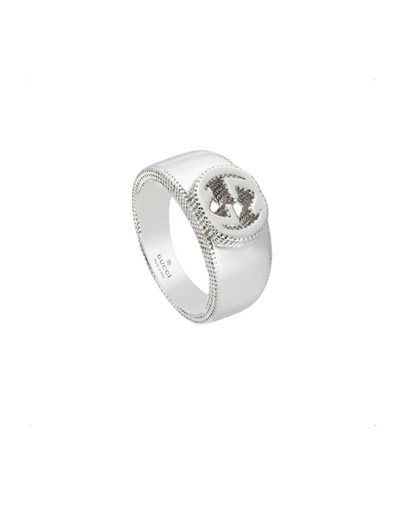 GUCCI Silver GG detail ring