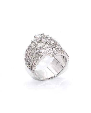 CAPECE GIOIELLIERI Fantasy ring with marquise cut diamonds