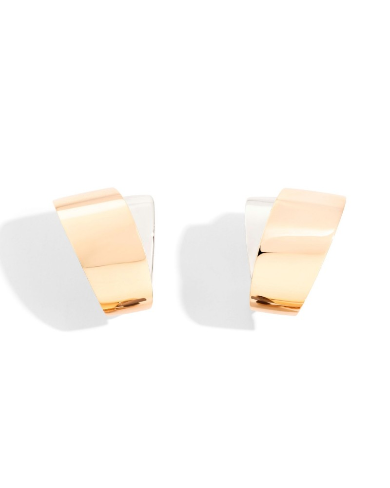 VHERNIER tourbillon earrings in rose and white gold 18Kt.