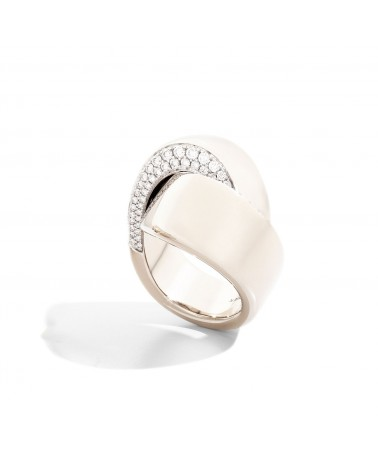 VHERNIER 18Kt. Rose Gold Embrace Ring and diamonds