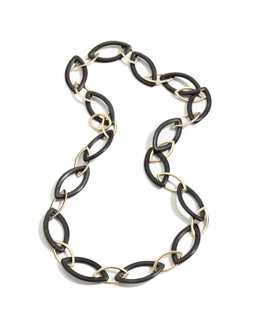 VHERNIER Pop necklace in 18Kt. rose gold and Ebony