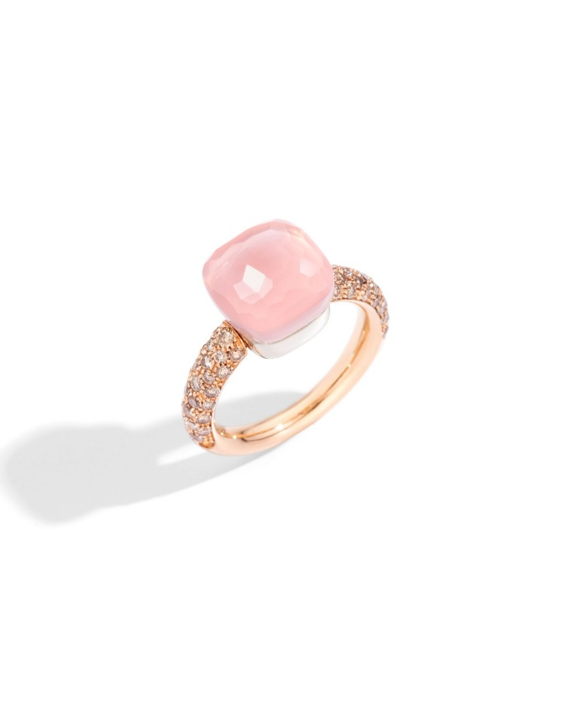 POMELLATO ring NUDO ROSE QUARTZ CLASSIC