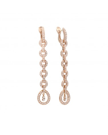 CAPECE GIOIELLIERI Long pink gold hoop earrings cod. 019898