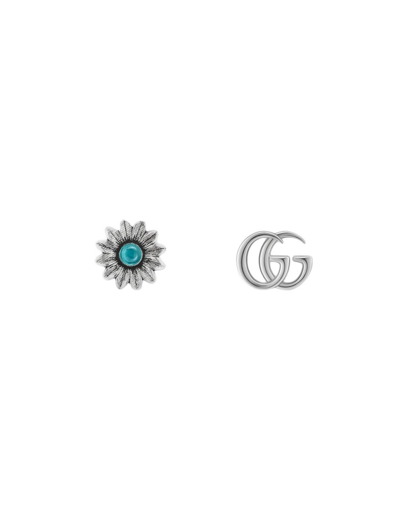 GUCCI Earrings with flower and Double G