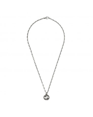 GUCCI Silver necklace with GG cod. 604155 J8400 0811
