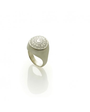 CHANTECLER Small chevalier ring in silver