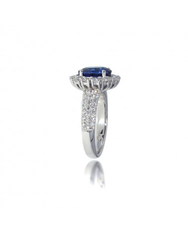 CAPECE GIOIELLIERI Ring with sapphire and diamonds