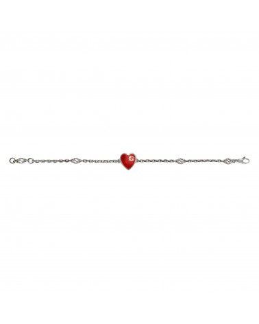 GUCCI heart bracelet with Interlocking G