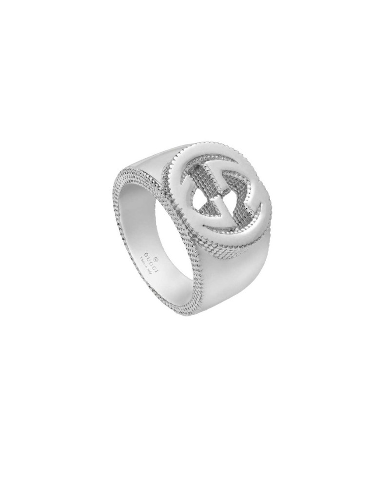 GUCCI Ring with silver GG detail cod. 479229 J8400 8106
