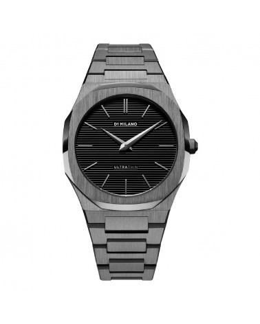 D1MILANO GUN METAL ULTRA THIN BRACELET 40 MM