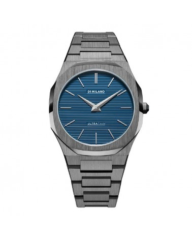 D1MILANO PETROL BLUE ULTRA THIN BRACELET 40 MM