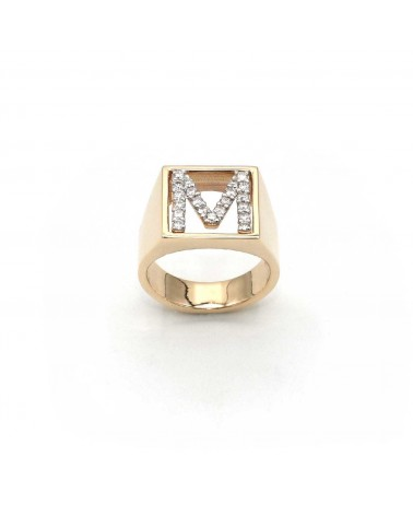 CAPECE GIOIELLIERI Ring DIT MOI letter M in gold and brilliants
