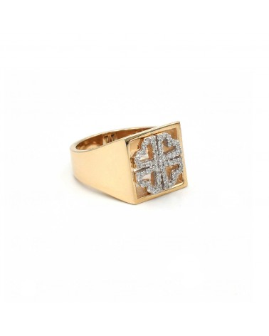CAPECE GIOIELLIERI Ring DIT MOI flower in gold and brilliants