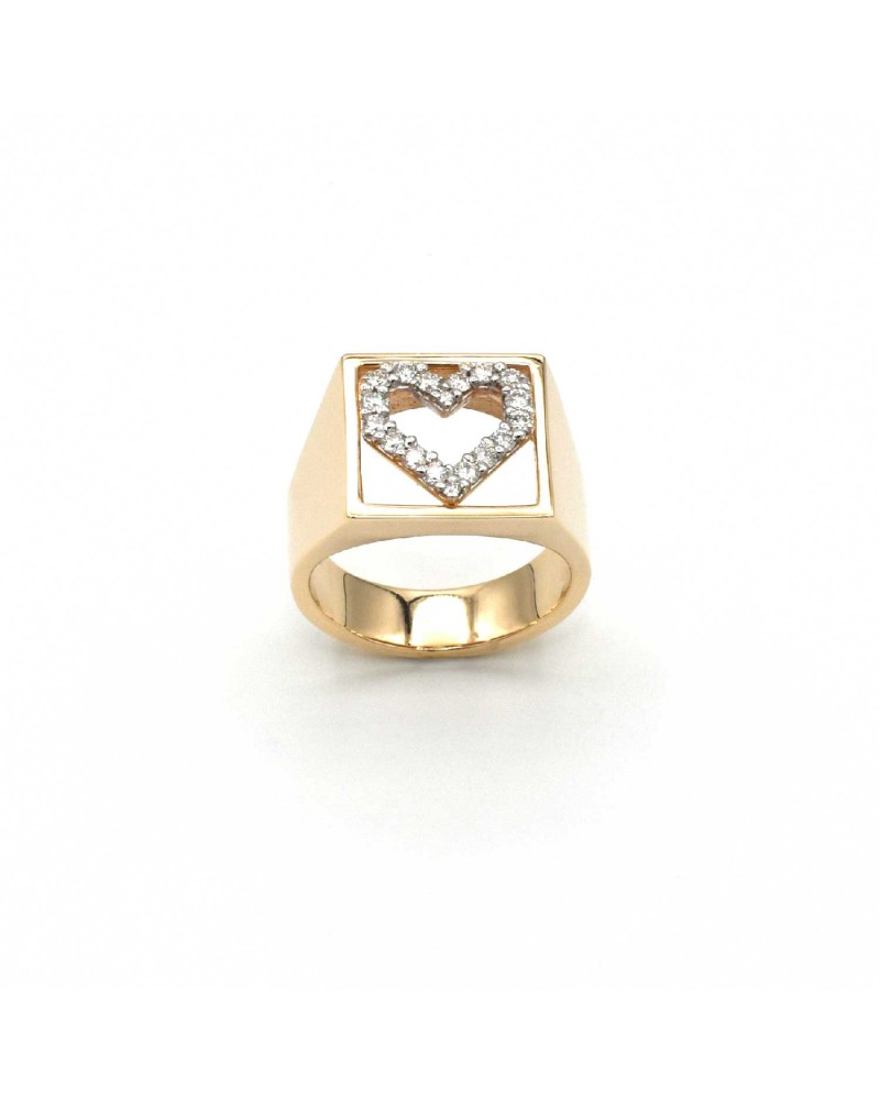 CAPECE GIOIELLIERI Ring DIT MOI heart in gold and brilliants