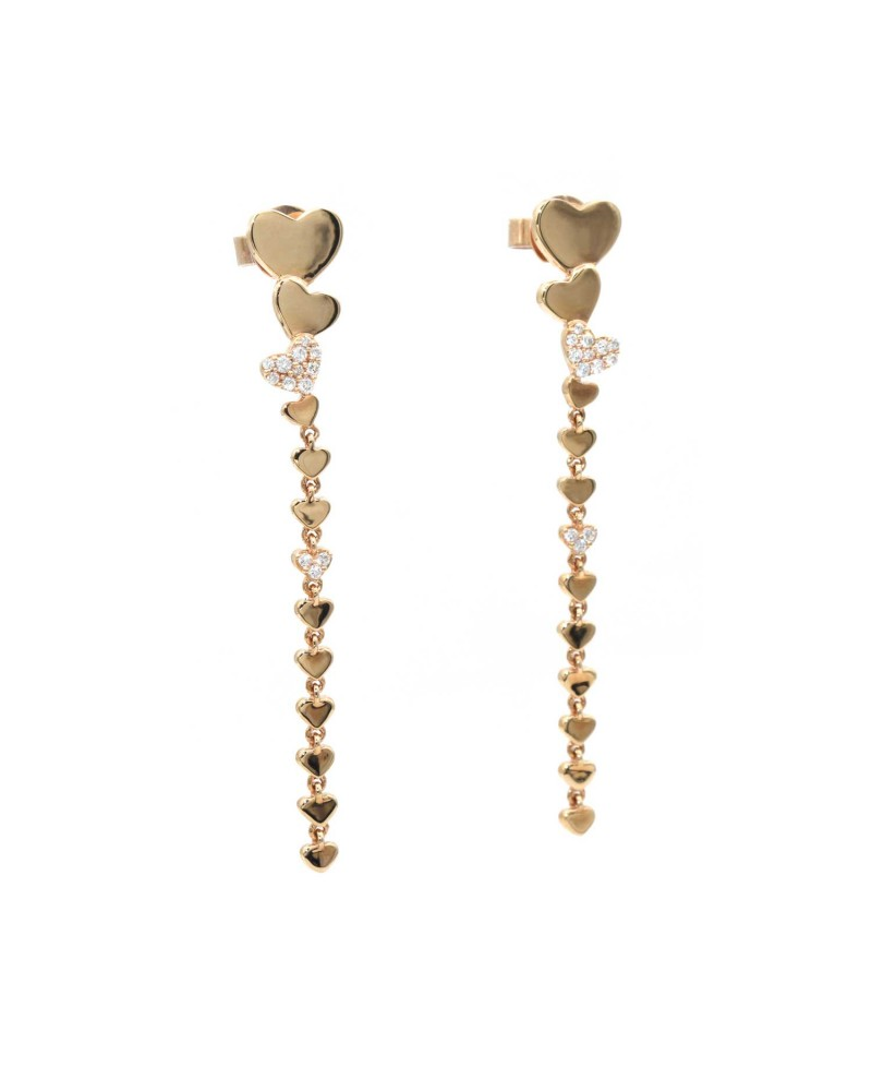 CAPECE GIOIELLIERI pendant hearts earrings
