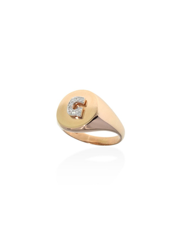 CAPECE GIOIELLIERI Chevalier ring with letter G