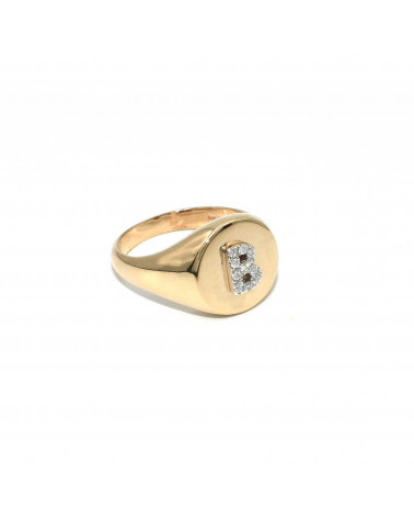 CAPECE GIOIELLIERI Chevalier ring with letter B