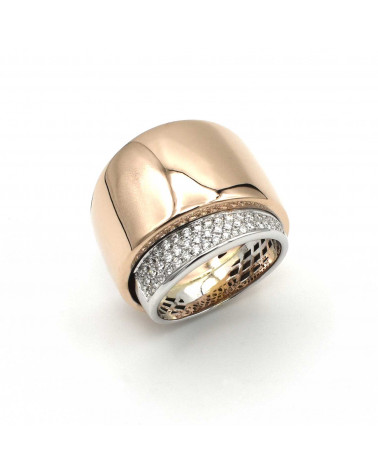 CAPECE GIOIELLIERI Rose and white gold band ring