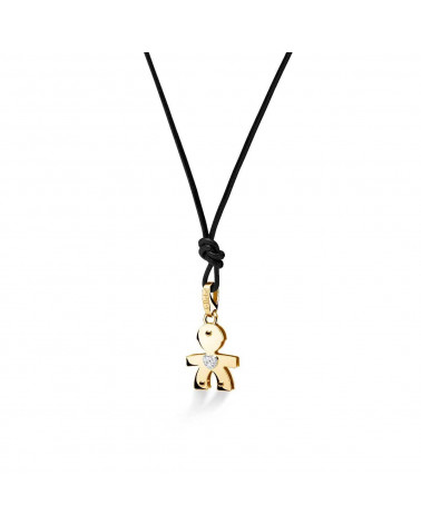 LE BEBE' diamonds pendant baby yellow gold
