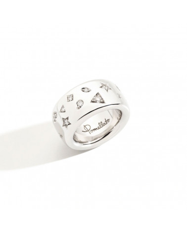 POMELLATO ICONICA ring in white gold and diamonds