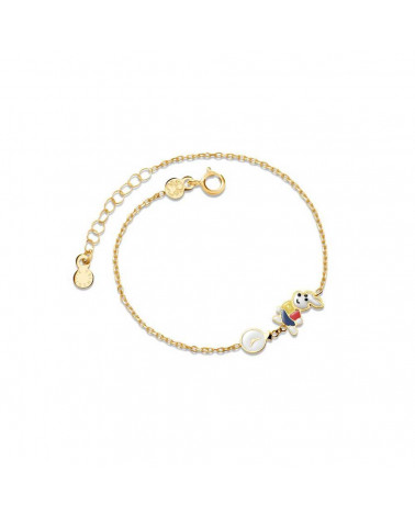LE BEBE' BRACELET FIABE WHITE RABBIT AND WATCH