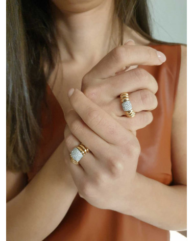 CAPECE GIOIELLIERI ring a thousand lines