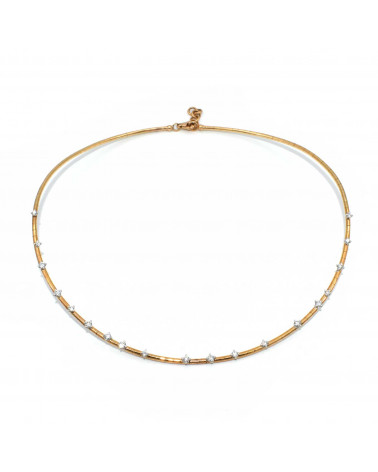 CAPECE GIOIELLIERI Rigid necklace with diamonds