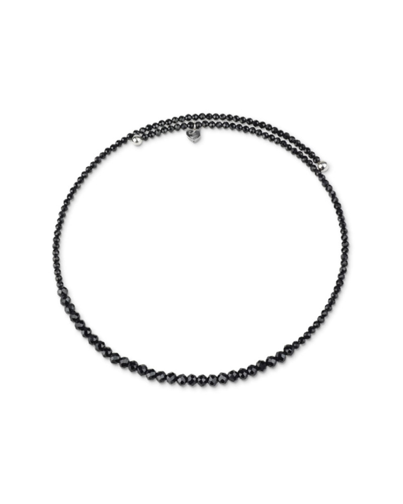 CHANTECLER Black Spinel and silver Chocker