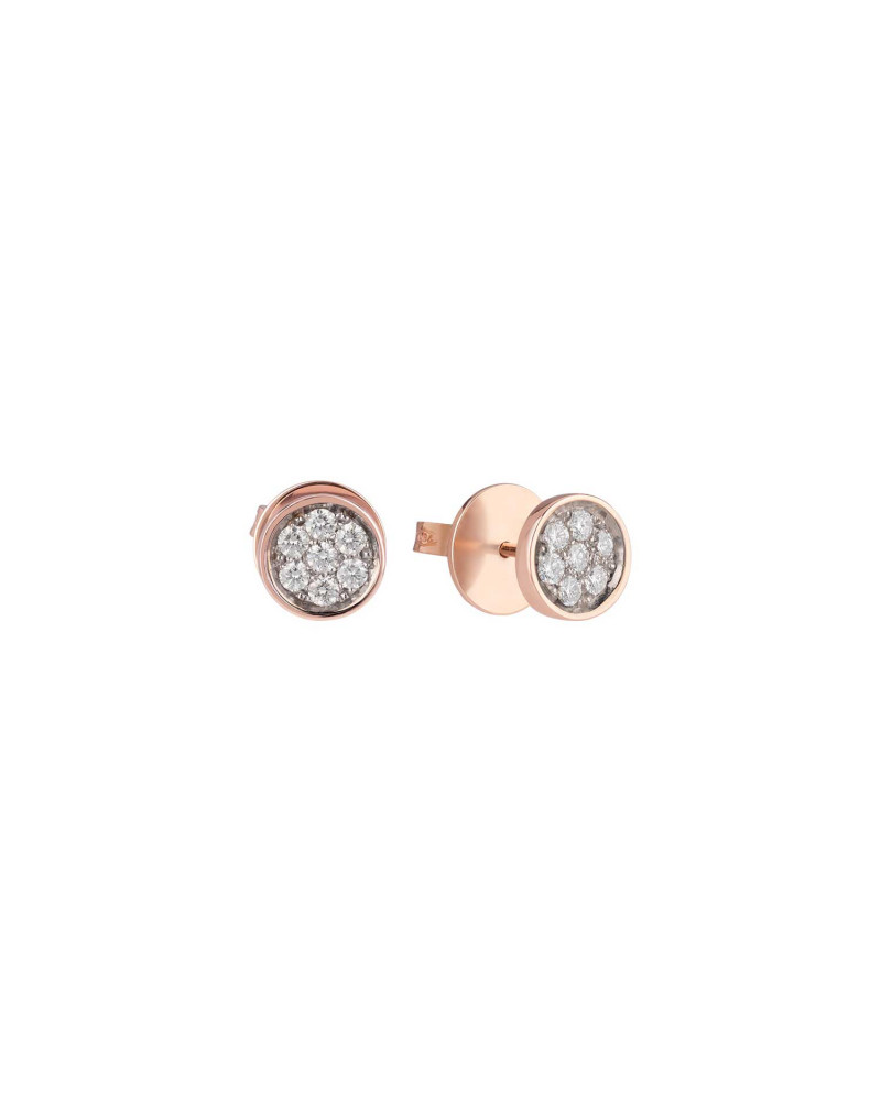 CHANTECLER Paillettes lobe earrings with withe diamonds