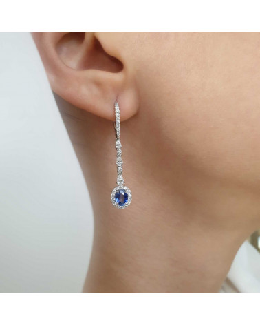CAPECE GIOIELLIERI Long earrings with sapphires
