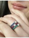 CAPECE GIOIELLIERI ring with emeralds and central brilliant  cod.729a08mp