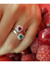 CAPECE GIOIELLIERI ring with heart cut ruby and brilliants cod. 020770