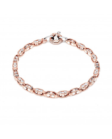 BARAKA' bracelet in rose and white gold with diamond cod.BR214771RBLU