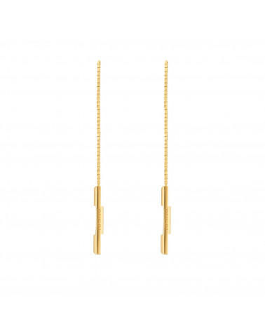 Lo Smeraldo GUCCI Link to Love chain earrings with 'Gucci' bar cod. 662115 J8500 8000