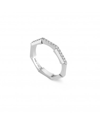 GUCCI Link to Love mirrored ring with diamonds cod.662140 J8568 9066