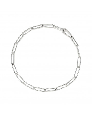 CHANTECLER Silver oval link necklace cod.41118