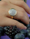CAPECE GIOIELLIERI Round ring with brilliants pave cod. 018643