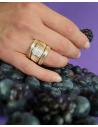 CAPECE GIOIELLIERI tubogas ring in rose gold and brilliants cod.019994