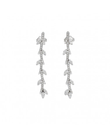 CAPECE GIOIELLIERI Stem and Leaves Earrings cod. 020624