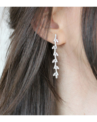 CAPECE GIOIELLIERI Stem and Leaves Earrings cod.020624