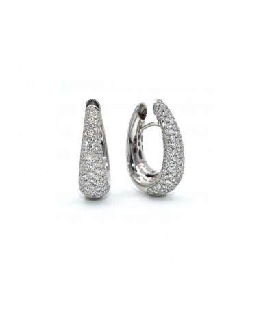 CAPECE GIOIELLIERI Oval earrings with brilliants pave cod. 020524