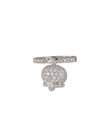 CHANTECLER White gold and diamond pavé ring