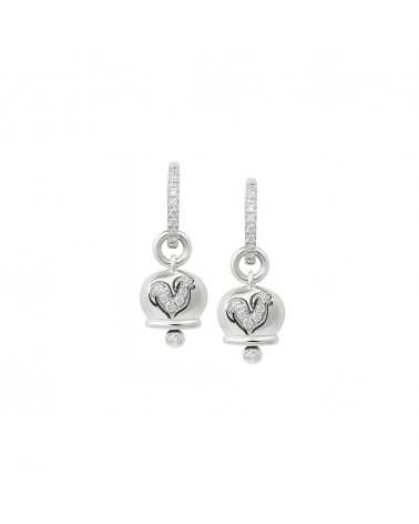 CHANTECLER Small earrings in white gold