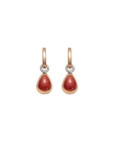 CHANTECLER Small drop earrings in rose gold