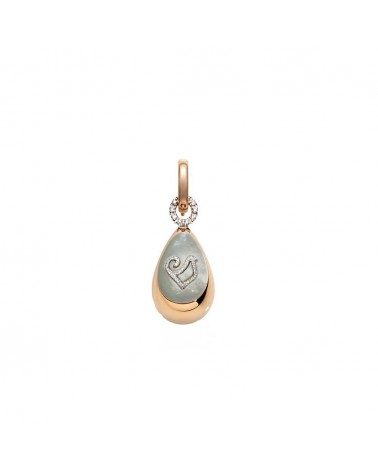 CHANTECLER Large drop pendant in rose gold