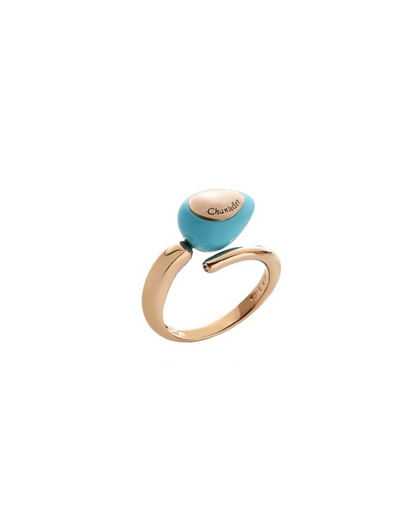 CHANTECLER Contrariè ring with turquoise drop