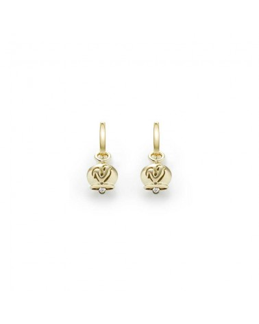 CHANTECLER Micro campanella earrings in yellow gold
