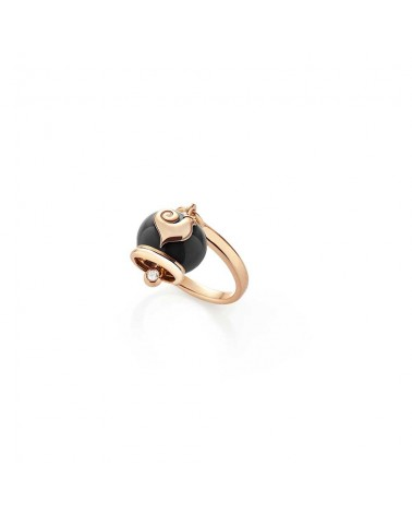 CHANTECLER Micro campanella ring in rose gold